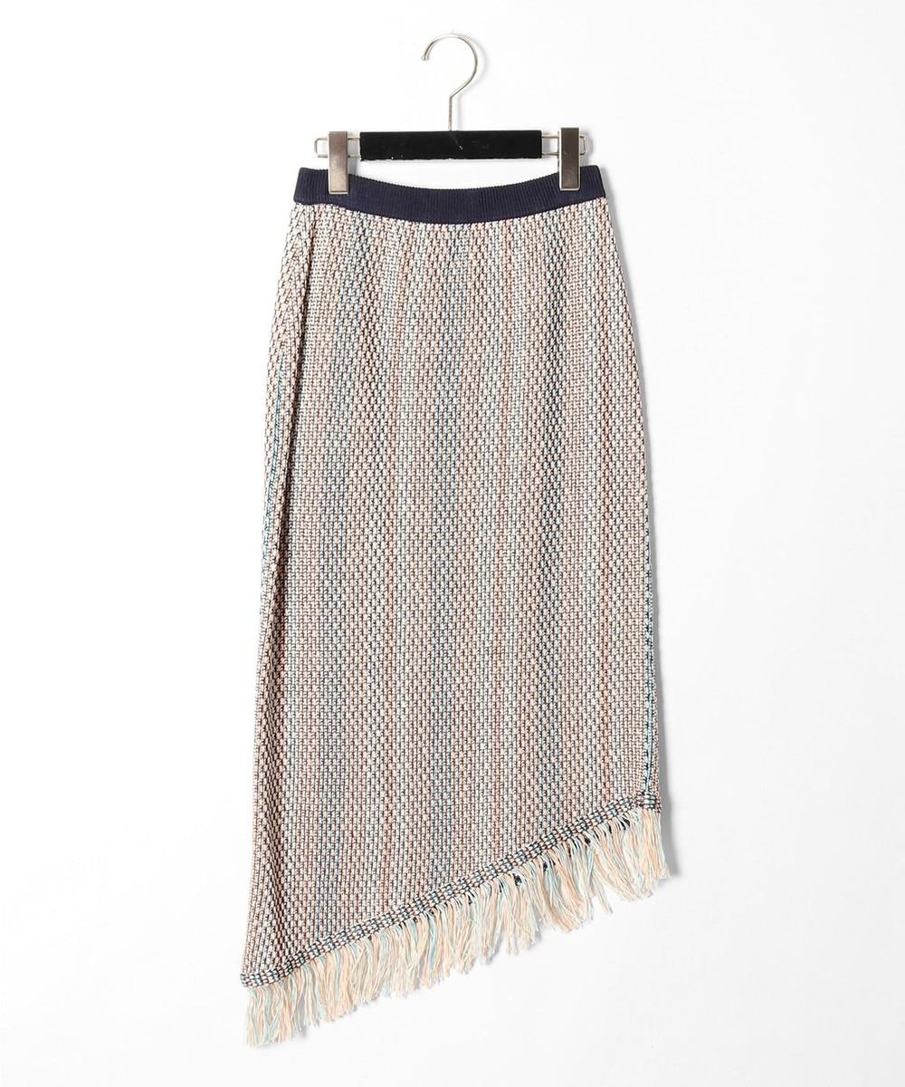 スレッドストライプニットスカート