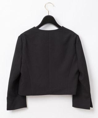 GRACE CONTINENTAL トリアセノーカラージャケット ブラック