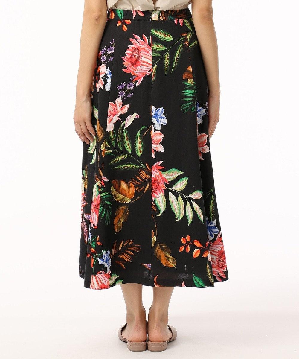 GRACE CONTINENTAL リネンボタニカルスカート ブラック