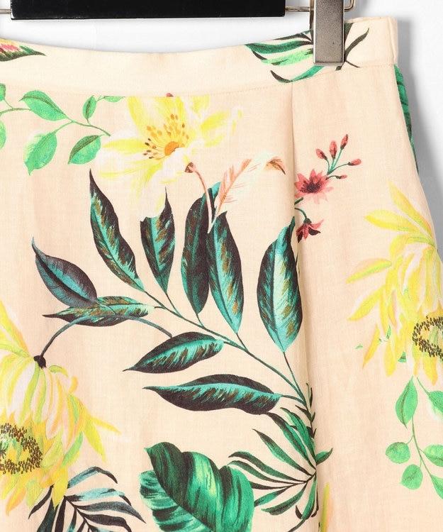 GRACE CONTINENTAL リネンボタニカルスカート