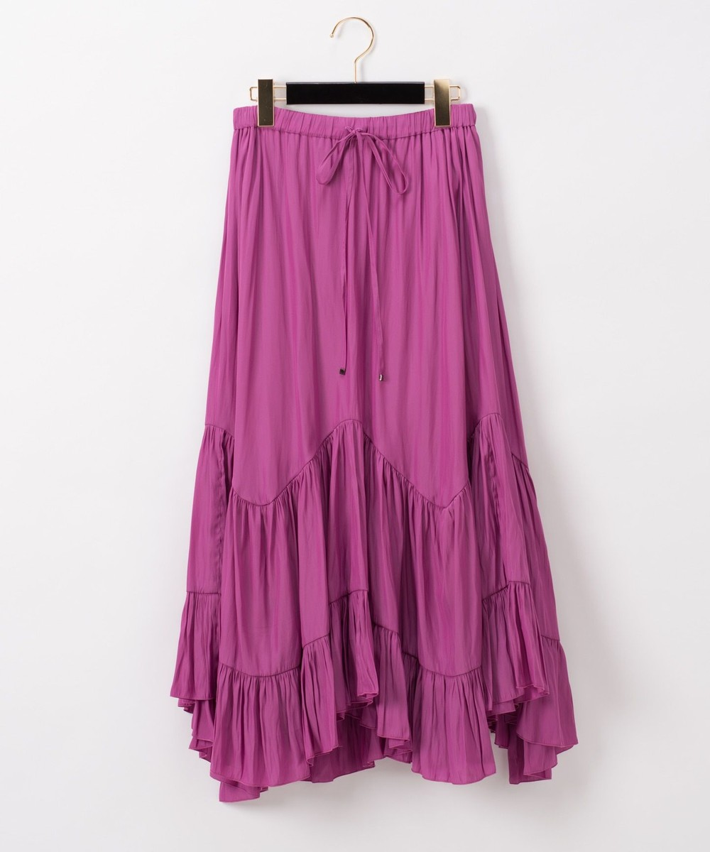 割繊ティアードスカート
