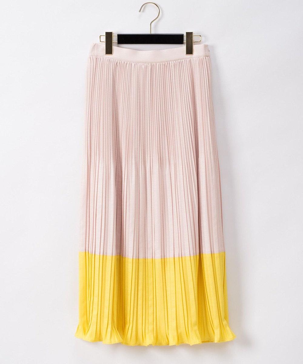 GRACE CONTINENTAL 配色ランダムプリーツスカート ピンク