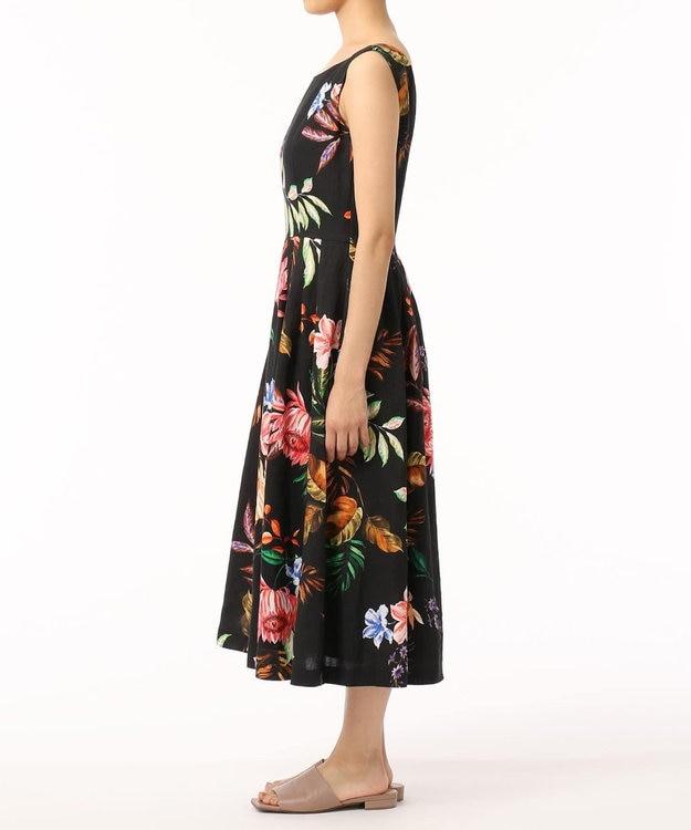 GRACE CONTINENTAL リネンボタニカルプリントドレス