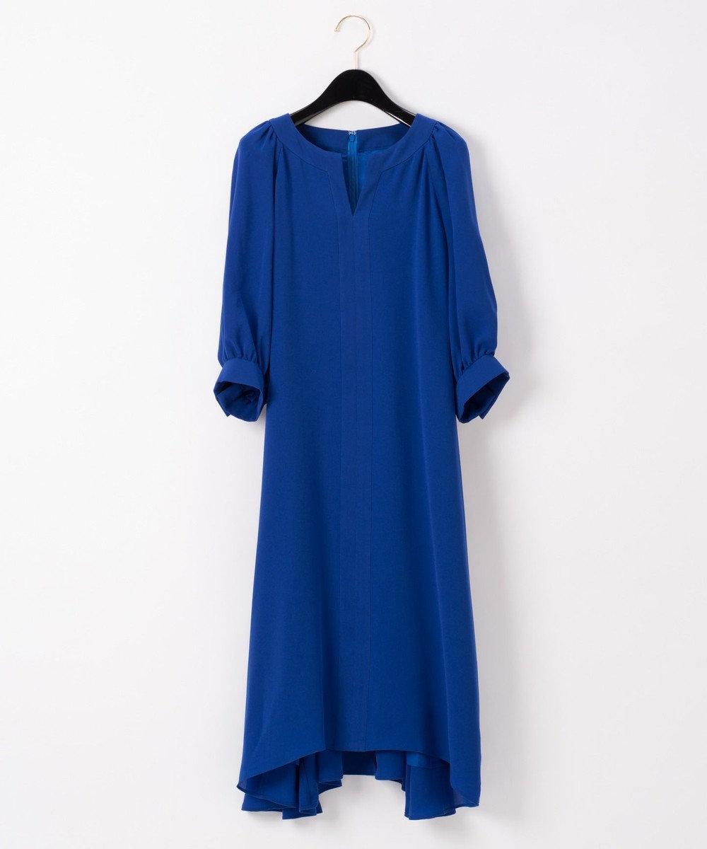 GRACE CONTINENTAL バルーンスリーブドレス ブルー