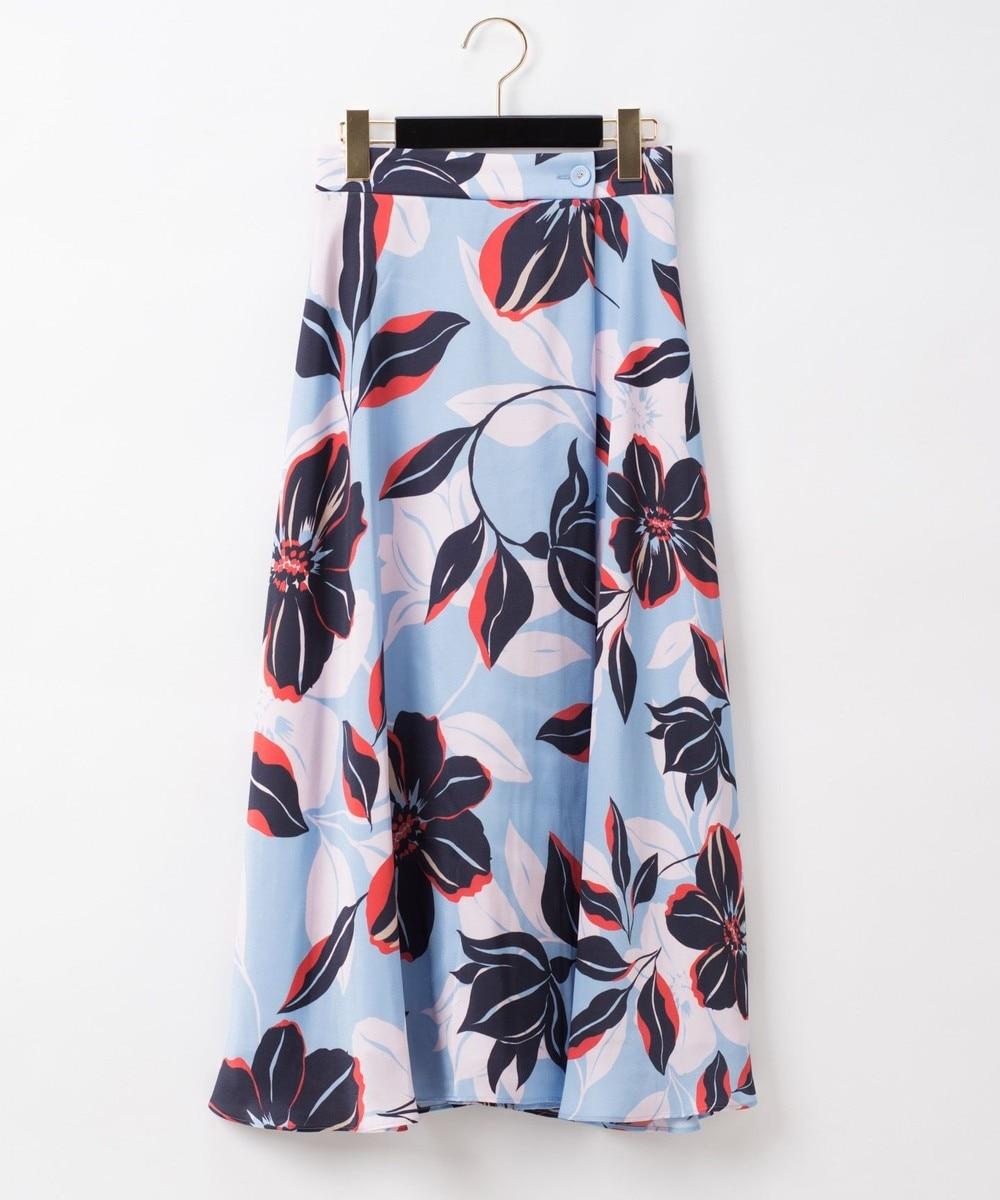 フラワーフレアラップスカート