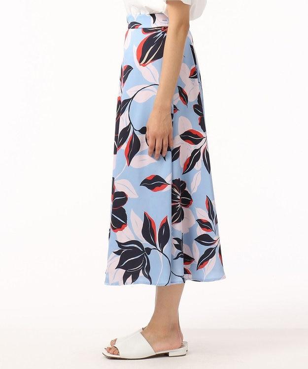 GRACE CONTINENTAL フラワーフレアラップスカート