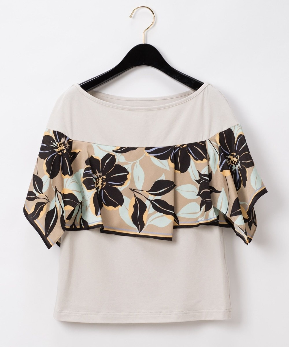 アシメフラワースカーフTシャツ