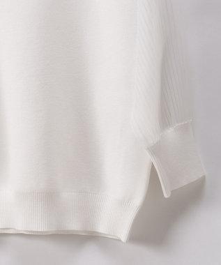 GRACE CONTINENTAL シアーニットトップ ホワイト