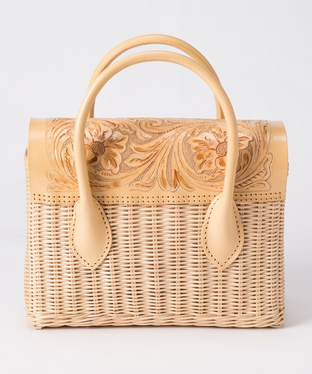 GRACE CONTINENTAL MS Rattan Bag イエロー
