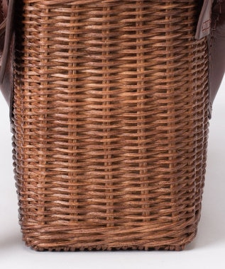 GRACE CONTINENTAL MS Rattan Bag ブラウン
