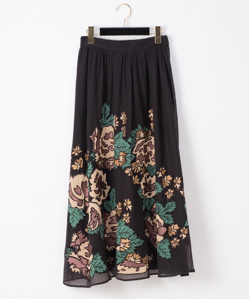 パッチワーク刺繍スカート