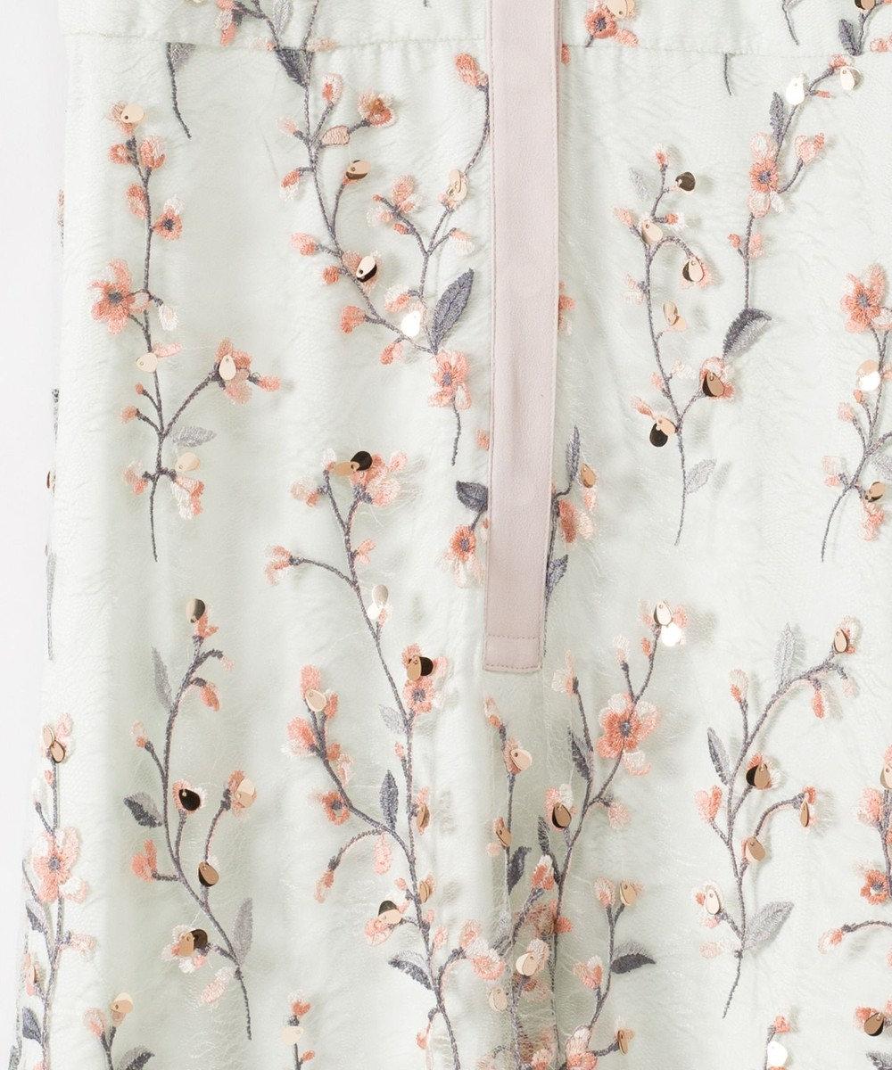GRACE CONTINENTAL フラワースパンコール刺繍ワンピース ミント