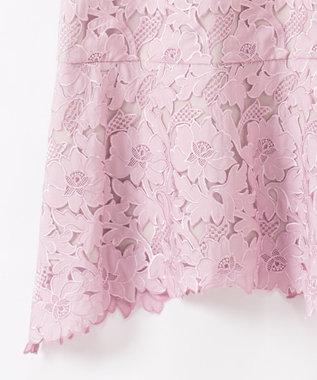 GRACE CONTINENTAL 刺繍セミロングドレス ピンク