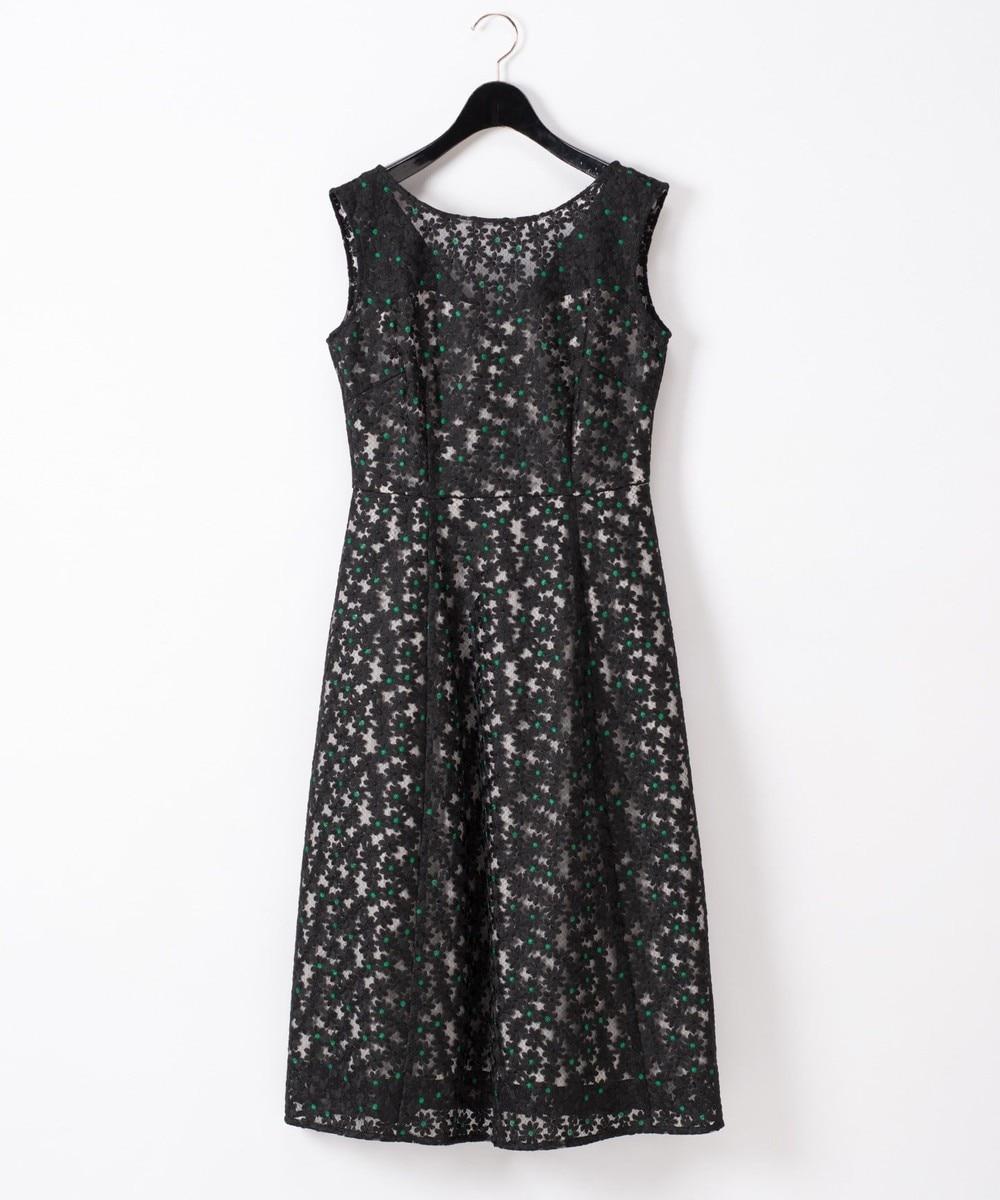 フラワー配色刺繍ドレス