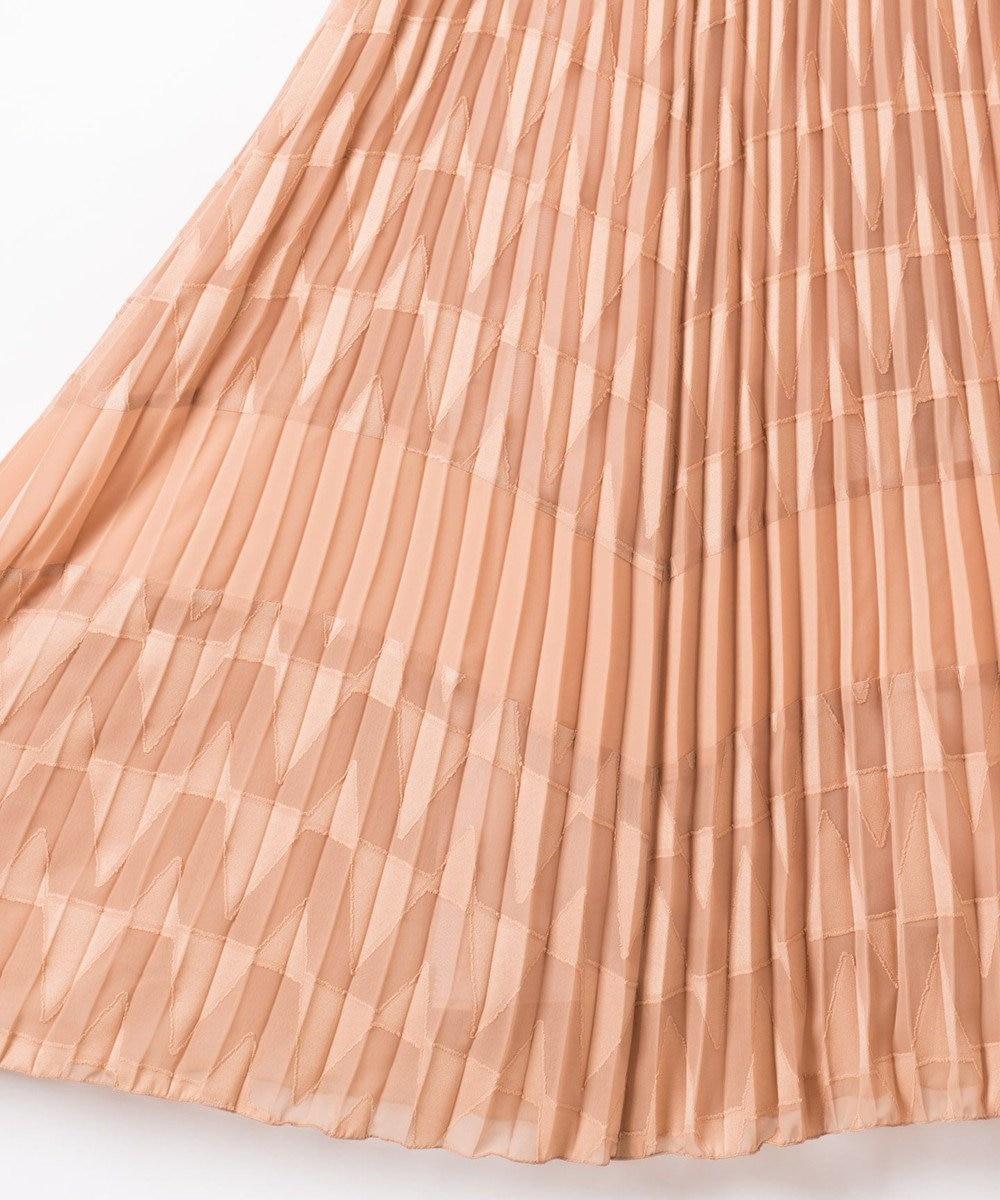 GRACE CONTINENTAL カットジャガードジャンパースカート ベージュ