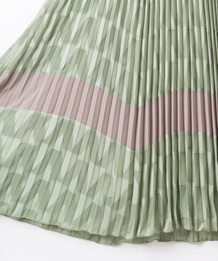 GRACE CONTINENTAL カットジャガードジャンパースカート グリーン