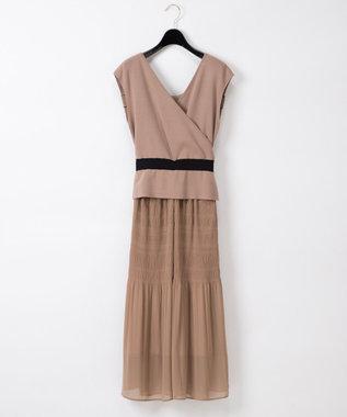 バックリボンニットドレス