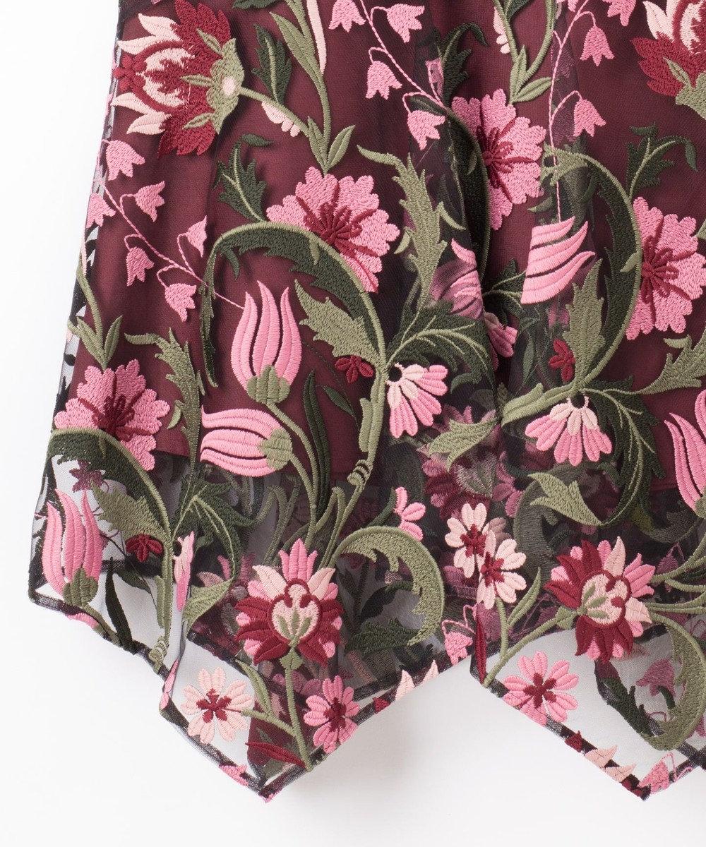 GRACE CONTINENTAL フラワー刺繍イレヘムスカート ピンク