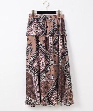 フレームフラワープリントスカート
