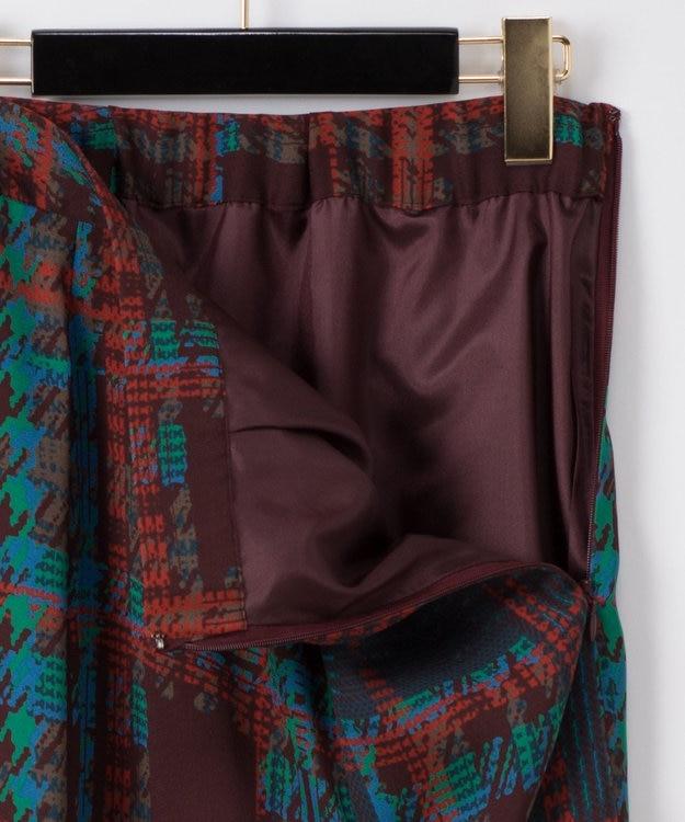 GRACE CONTINENTAL チェックプリントスカート