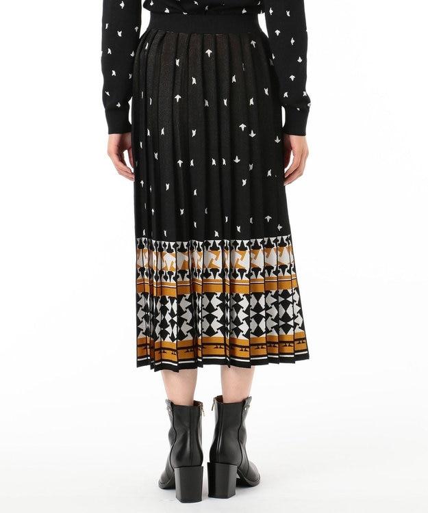 GRACE CONTINENTAL キカ柄JQプリーツニットスカート
