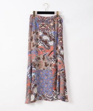 マルチプリントフレアラップスカート