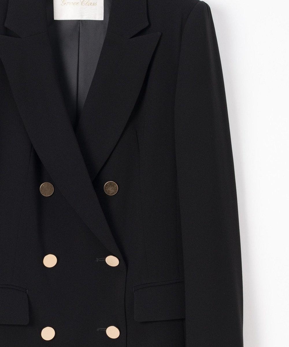 GRACE CONTINENTAL トリアセダブルジャケット ブラック