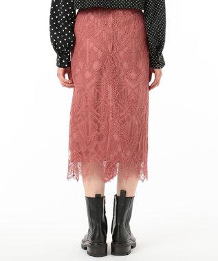 GRACE CONTINENTAL ジオメコードスカート ピンク