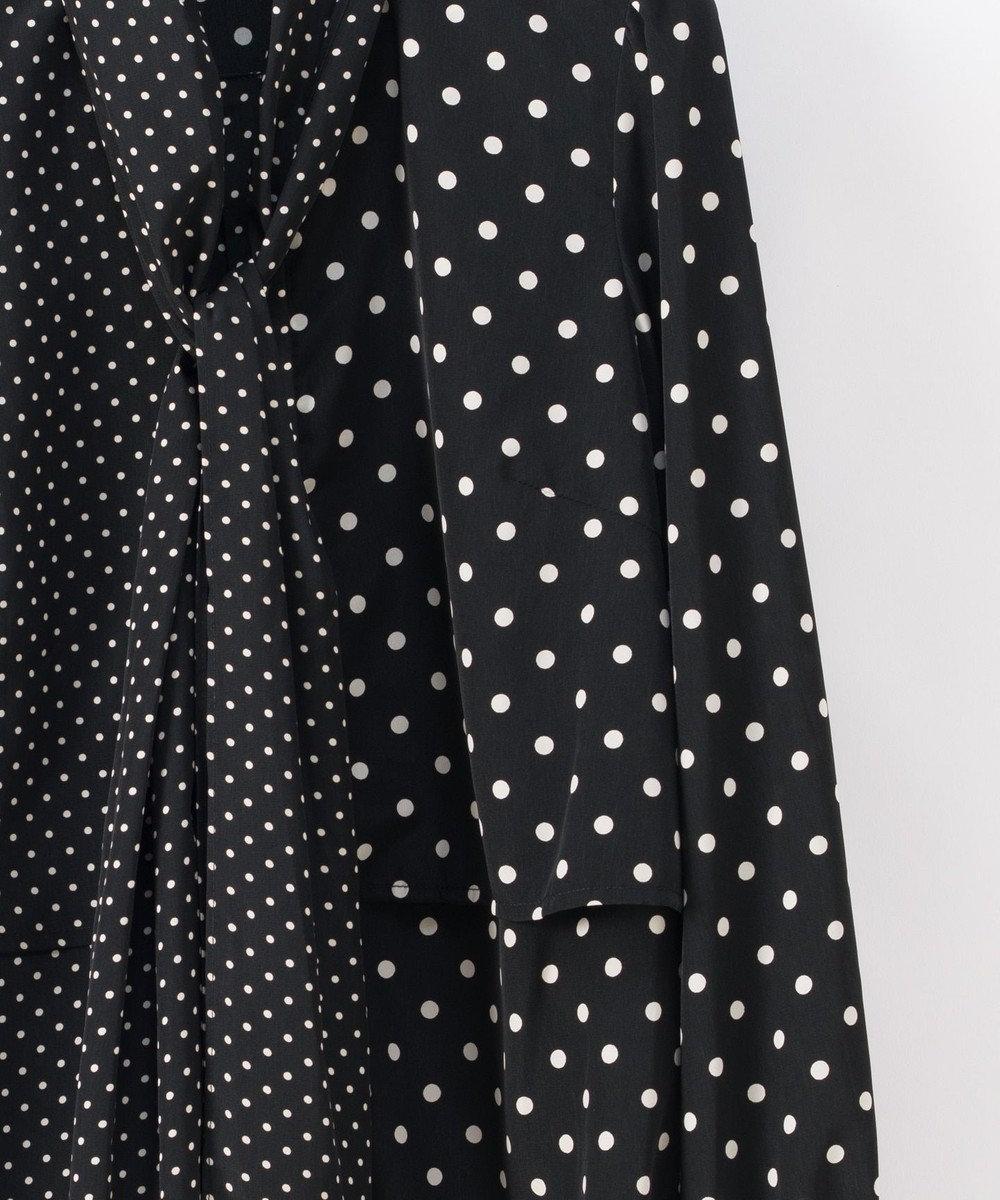 GRACE CONTINENTAL ボウタイドットシャツトップ ブラック