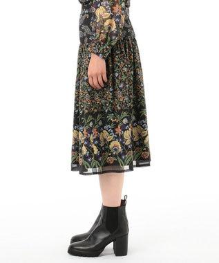 GRACE CONTINENTAL ペイズリーコンビスカート ブラック