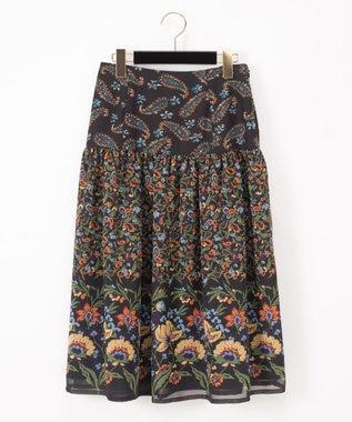 ペイズリーコンビスカート