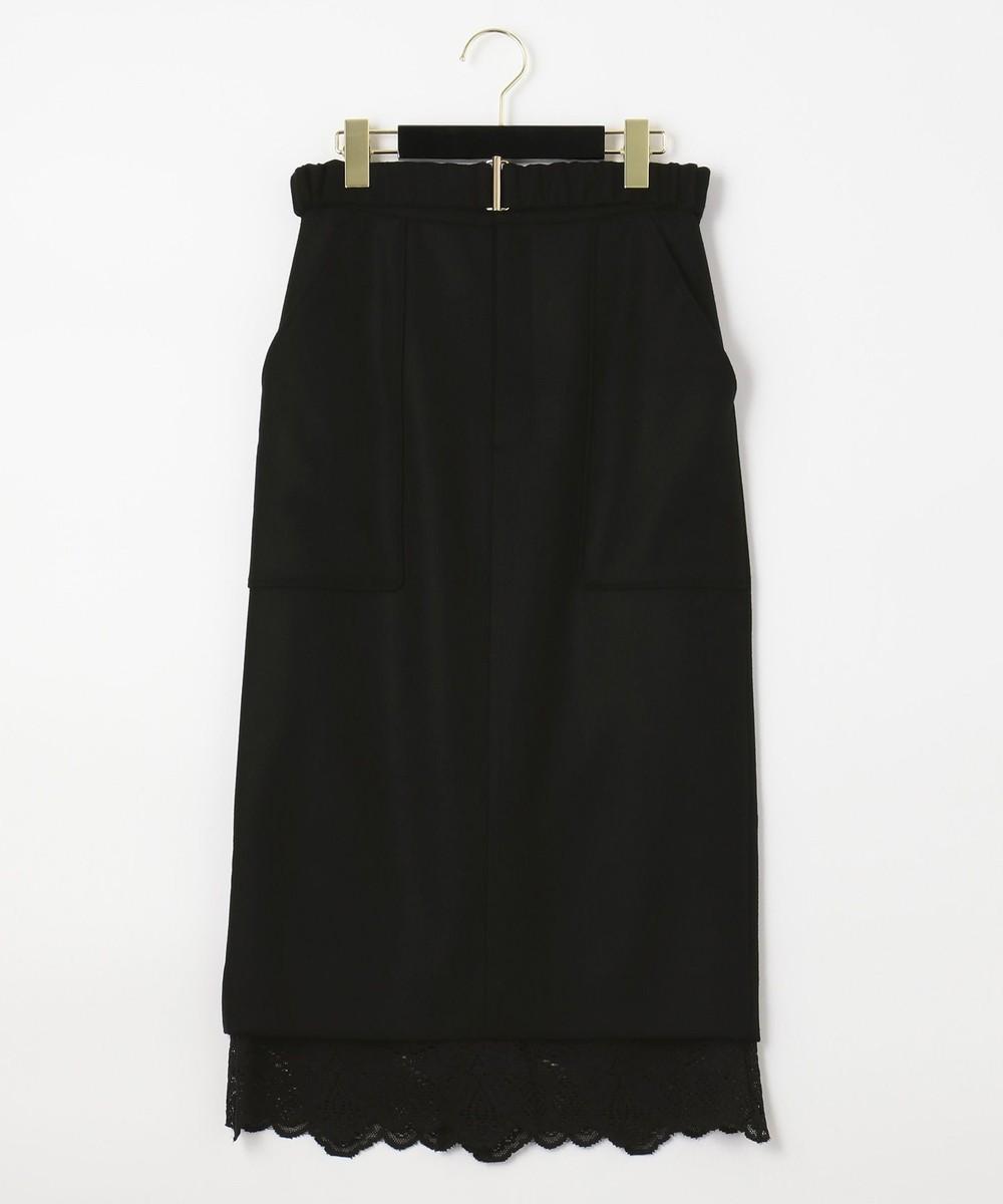 ウールレースタイトスカート