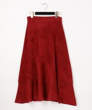 ラメプレーティングニットスカート