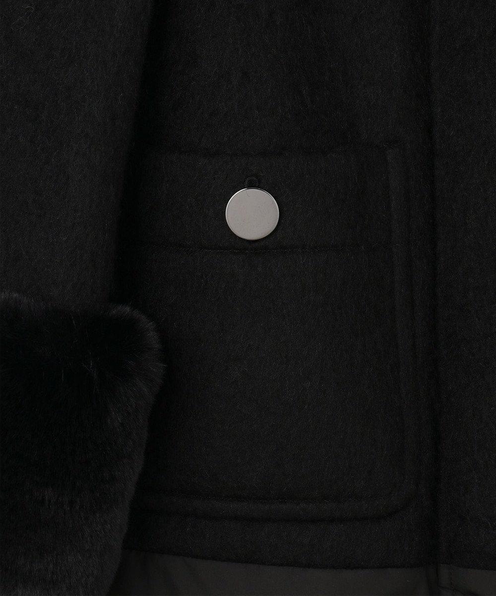 GRACE CONTINENTAL ファー付ダウンコート ブラック