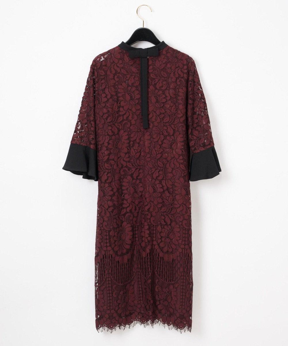 GRACE CONTINENTAL バックリボンレースドレス ブラウン