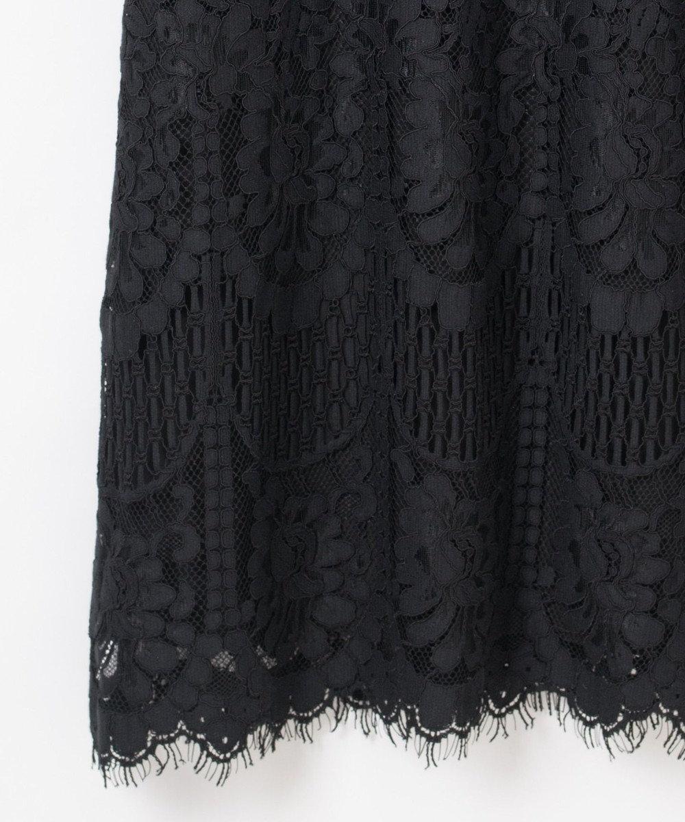 GRACE CONTINENTAL バックリボンレースドレス ブラック