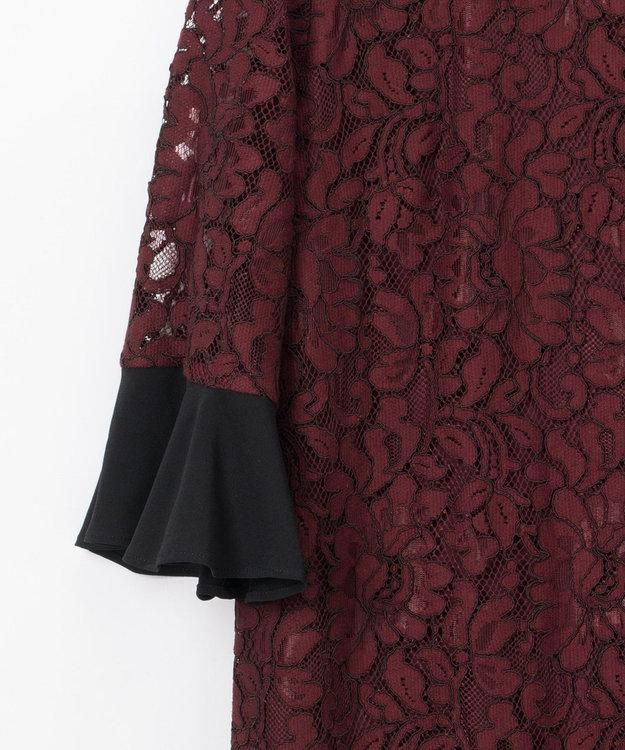 GRACE CONTINENTAL バックリボンレースドレス