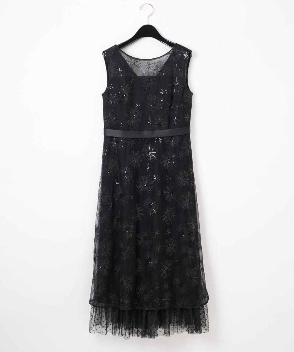 ラメスパン刺繍ドレス