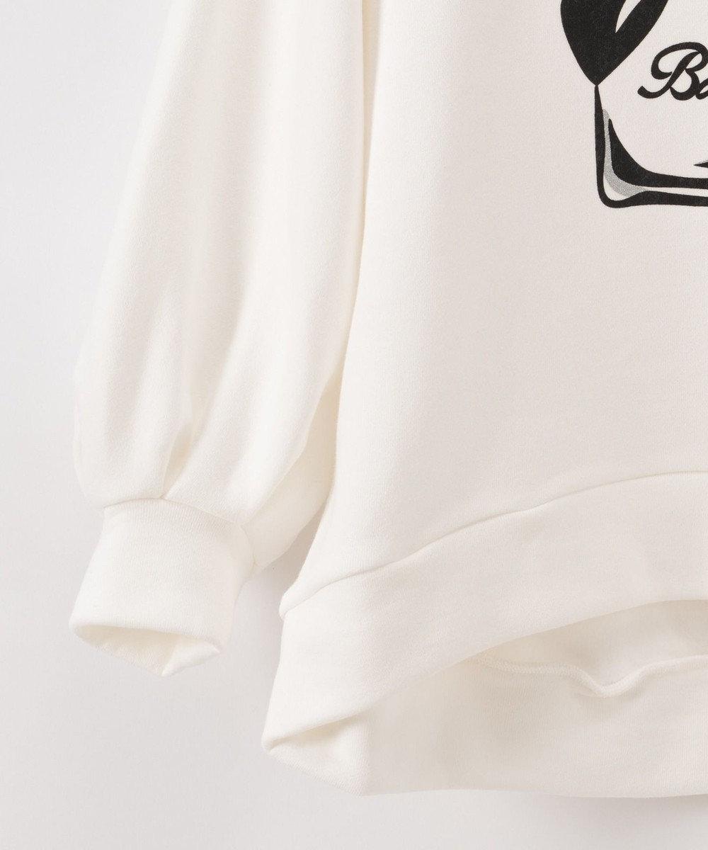 GRACE CONTINENTAL プリント裏毛トップ ホワイト