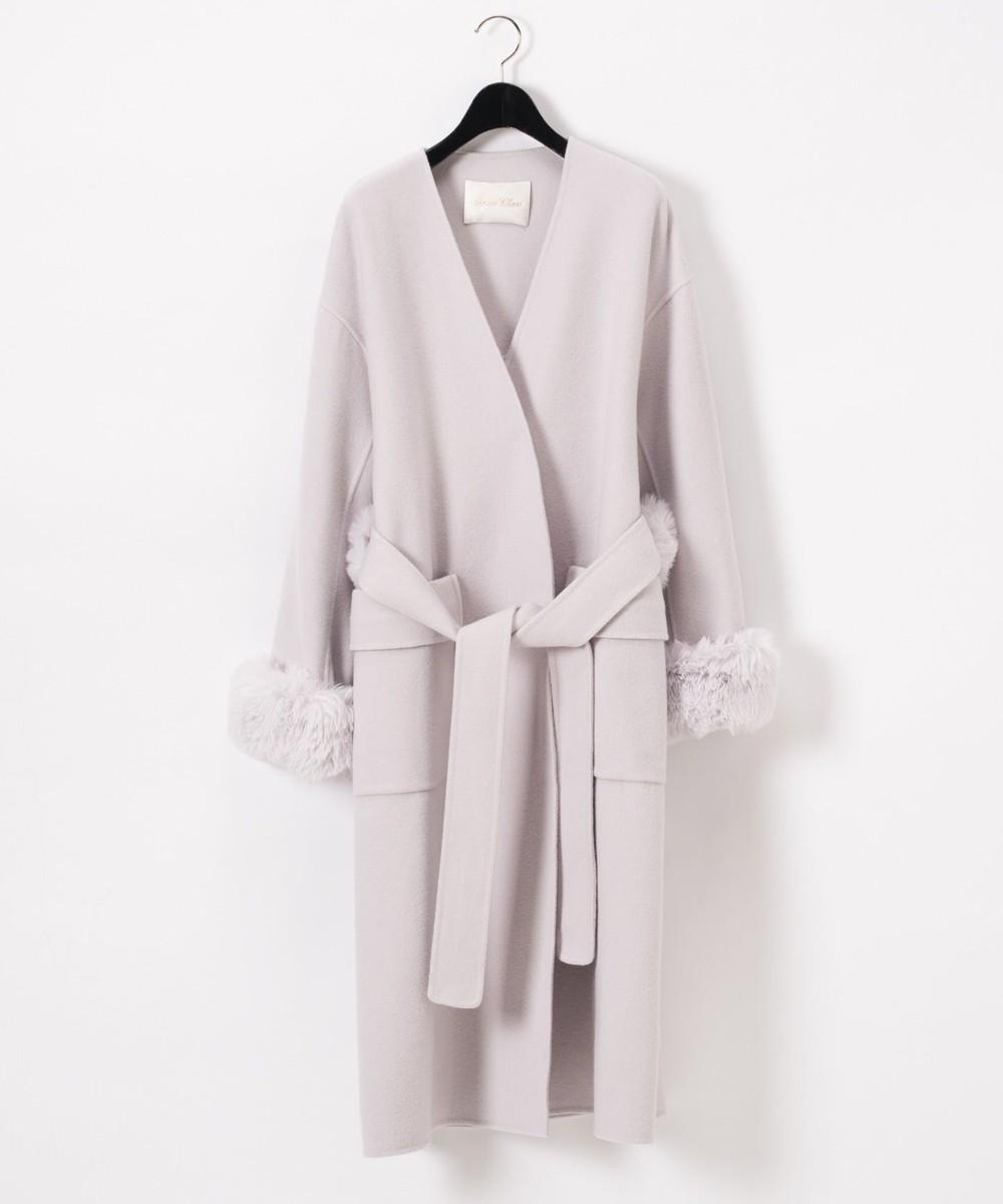 ファーバックベルトコート