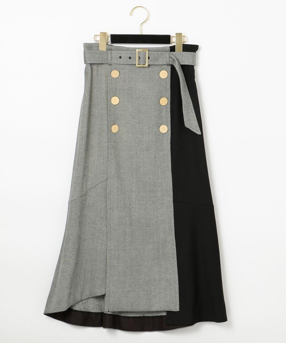 ベルト付ダブルボタンスカート