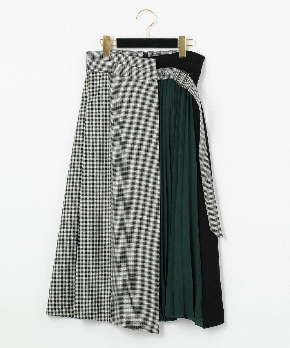 GRACE CONTINENTAL イレヘム配色ラップスカート グリーン