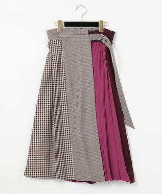 GRACE CONTINENTAL イレヘム配色ラップスカート ピンク