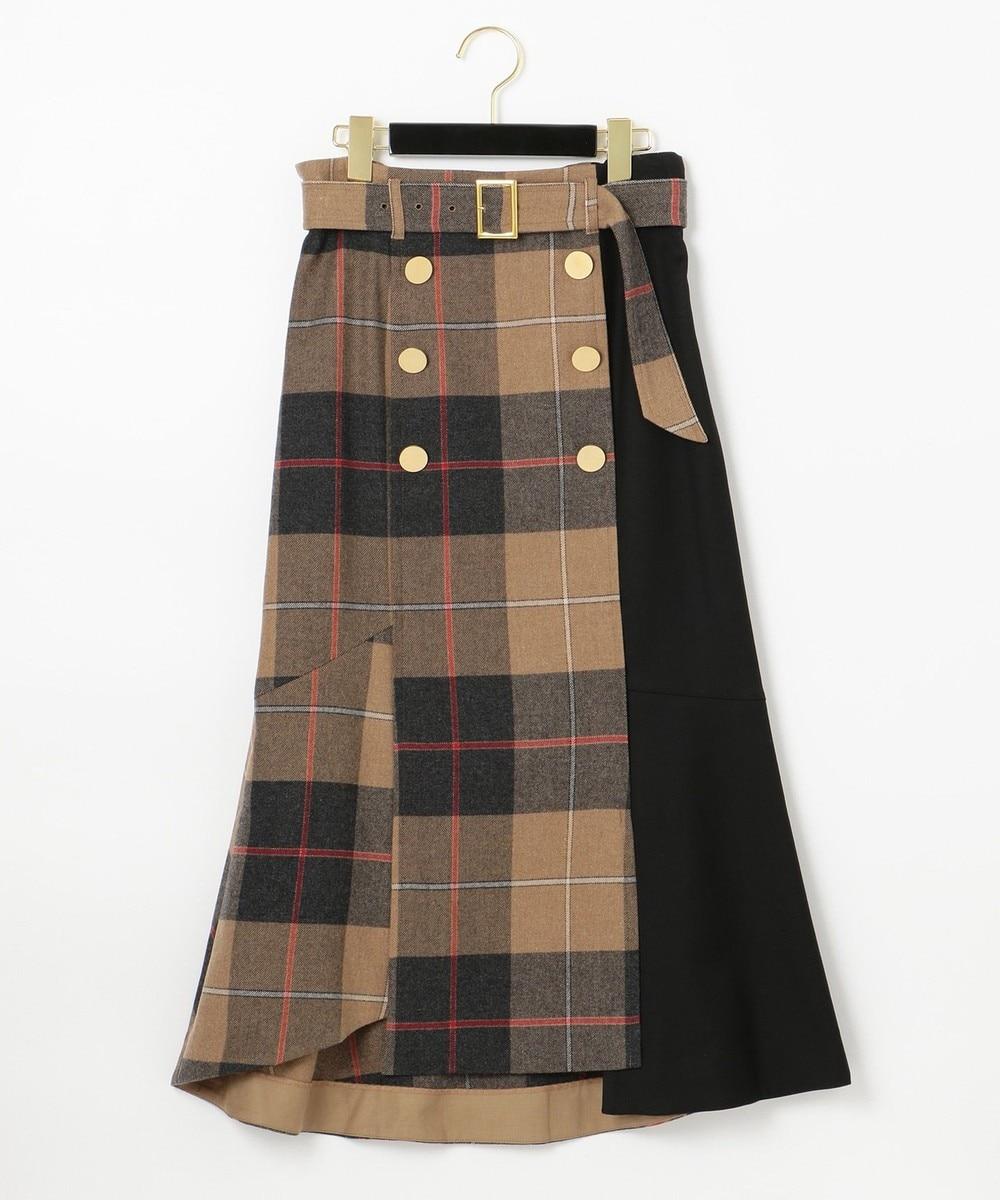 ベルト付Wボタンスカート2