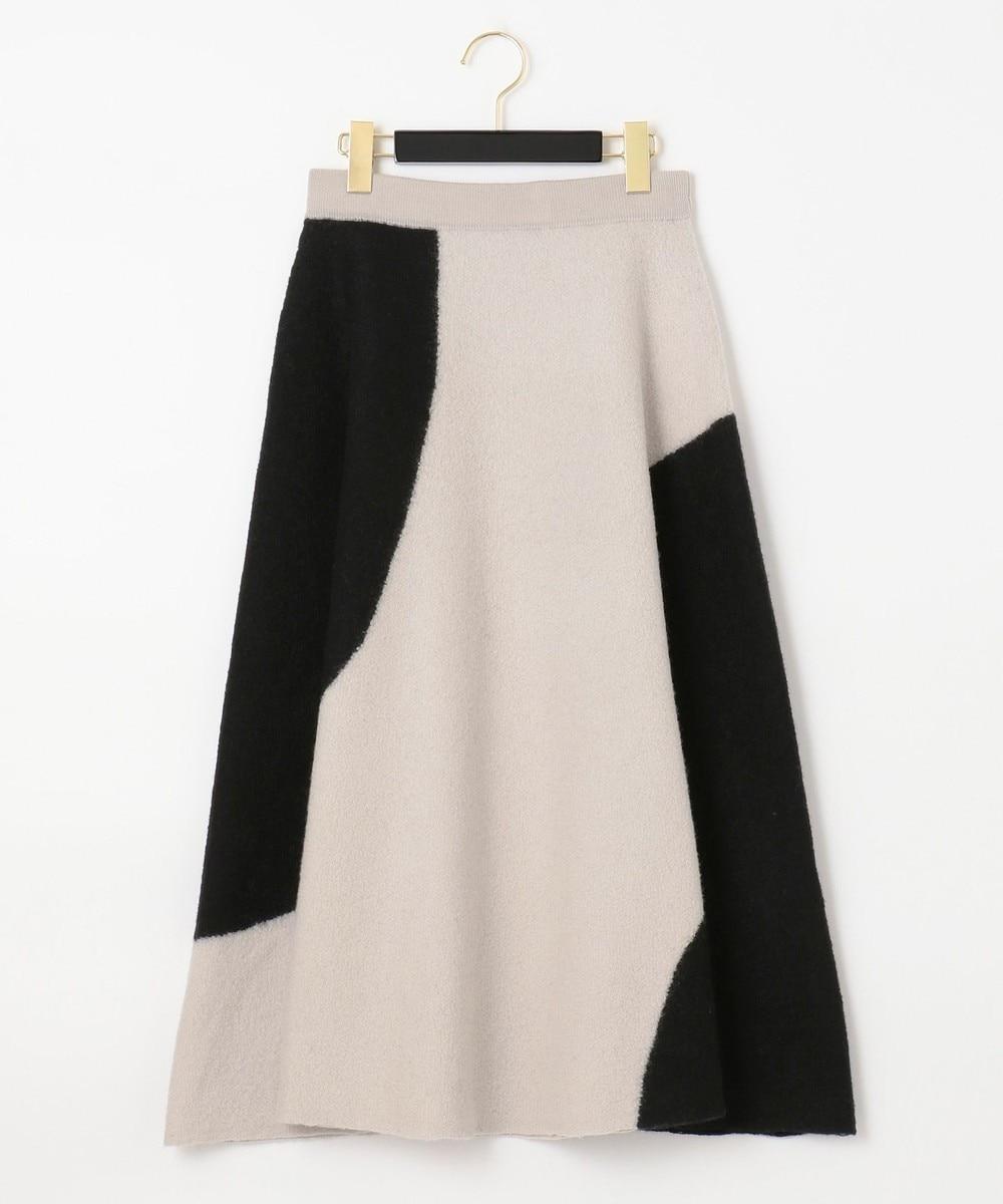 配色パターン圧縮スカート
