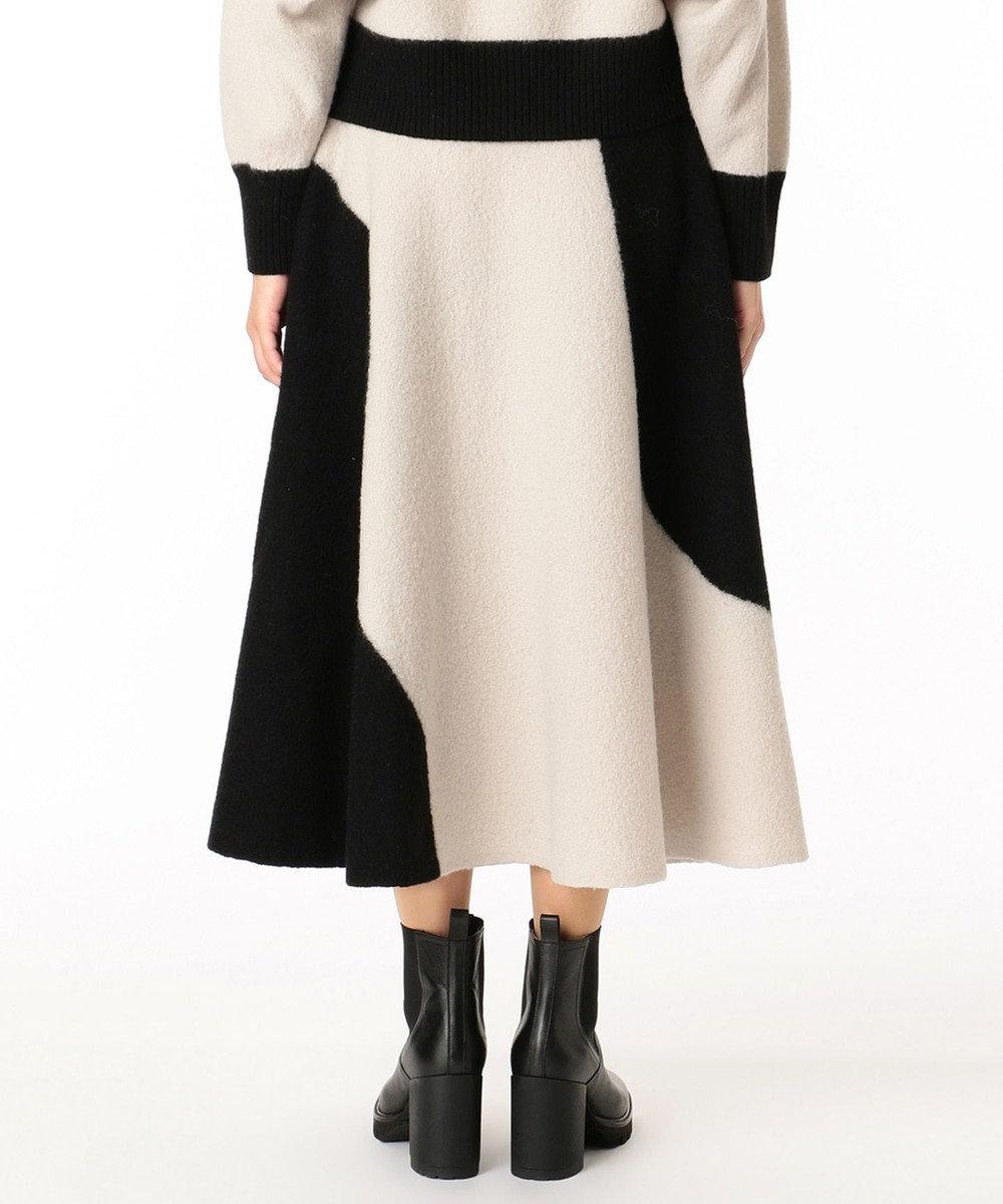 GRACE CONTINENTAL 配色パターン圧縮スカート キナリ