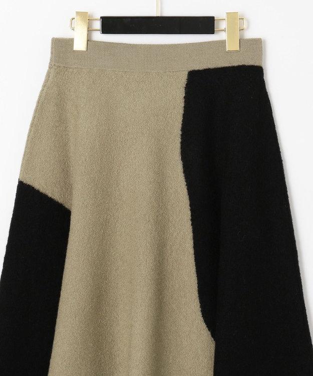 GRACE CONTINENTAL 配色パターン圧縮スカート