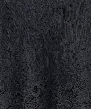 GRACE CONTINENTAL 袖フレアレース畦ニットトップ ブラック