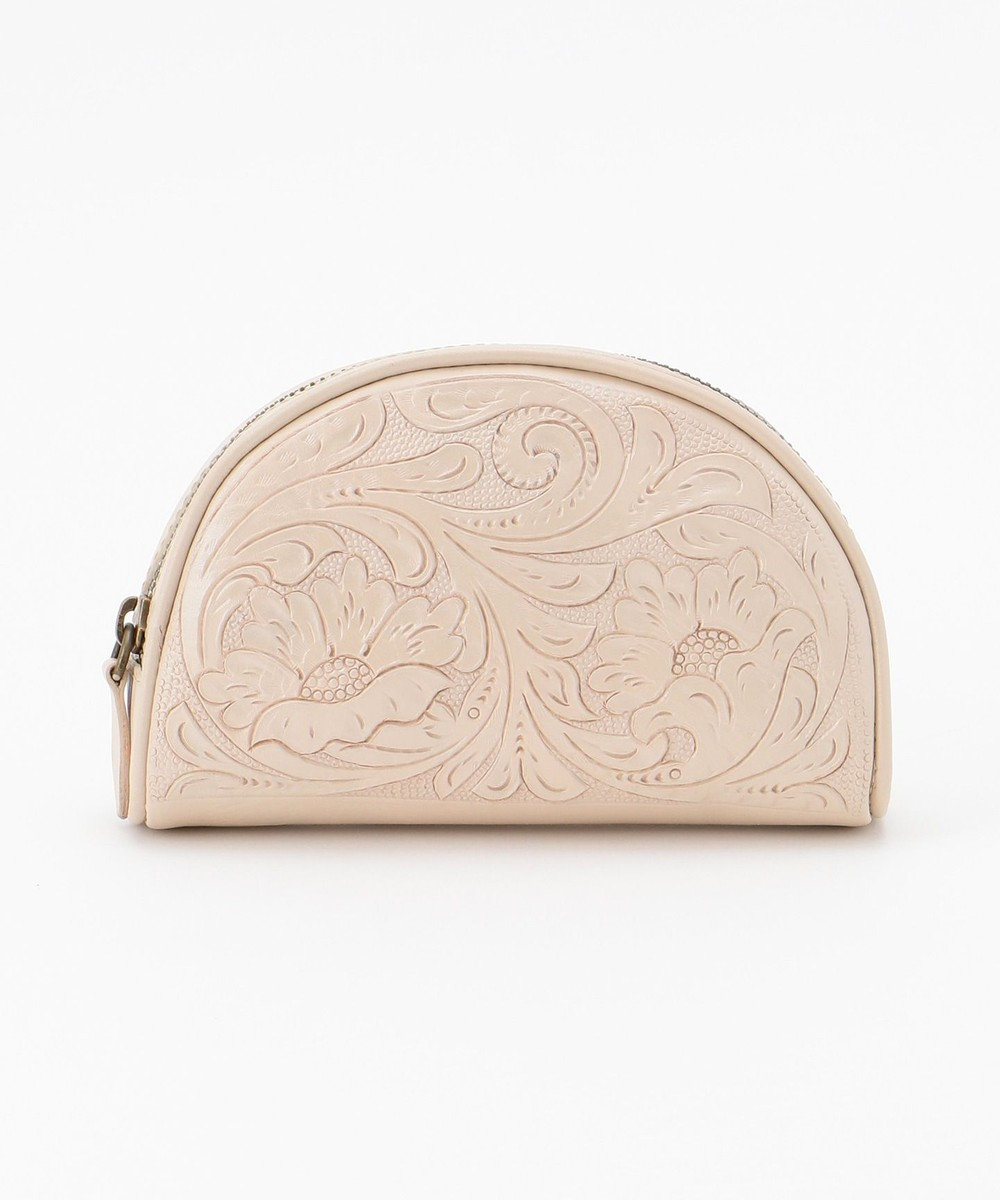 GRACE CONTINENTAL semicircle pouch パールホワイト
