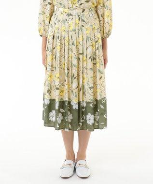 フラワープリントプリーツスカート